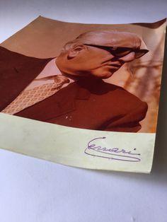 Enzo Ferrari autographed photos, autographs famous - Fotografia autografata di Enzo Ferrari, autografi famosi di Quieora su Etsy