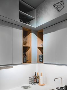 From having invisible cabinets to showcasing smart furniture picks, this tiny bachelor pad home inspires us to declutter and revamp our own space Studio Type Apartment, Apartment Design, Studio Condo, Tiny Studio, Small House Interior Design, Condo Design, Smart Furniture, Furniture Design, Small Condo Decorating