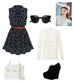 """""""Heeeyy"""" by irachkamarkovna ❤ liked on Polyvore featuring Forever Link, Versace, Tory Burch, PERFECTION and bows"""