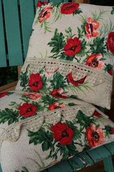 Cushion Covers French Vintage Red Poppy by FromParisToProvence, €23.00