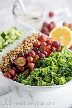 El brócoli y pepino Ensalada de uva-5