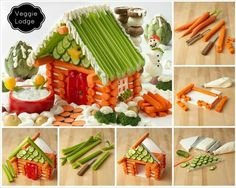 This is what I'm talking about! Building a vegetable house with what we've grown in the garden. My grands will love it.