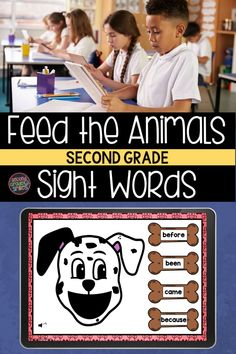 Practice sight words digitally with Boom Cards! Second grade students will enjoy feeding the animals as they practice reading second grade sight words. Sound autoplays on each card instructing the player to feed the animal a given sight word. Fun digital high frequency word practice for classroom centers or at home reading practice. Teaching Second Grade, Second Grade Teacher, 2nd Grade Classroom, Second Grade Sight Words, Sight Word Practice, Teaching Vocabulary, Teaching Phonics, Word Work Games, Reading At Home