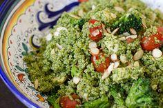 Kale pesto quinoa bowl