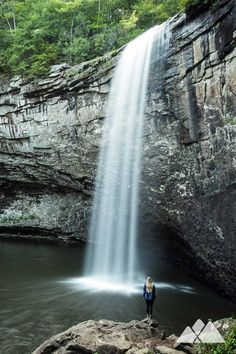 Foster Falls: hike to an outstandingly beautiful waterfall near Chattanooga, TN Tennessee Hiking, Tennessee Waterfalls, Visit Tennessee, Chattanooga Tennessee, Vacation Places, Vacation Spots, Places To Travel, Vacations, Beautiful Places To Visit