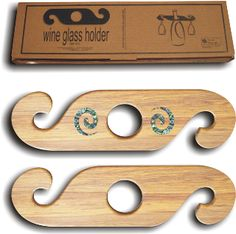 wine glass holder on wine bottle | ... wine glass holders come as a set of two which sit on top of your wine