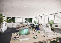 Office,  Stockholm Interior design, Scandinavian design, 3D visualisation, render, archviz, 3Ds Max, modern design, styling