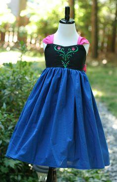 Anna Frozen Cotton Every Day Wear Dress by DesignFairies on Etsy