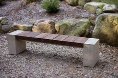 how to make concrete and wood seating - Google Search