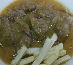 Carne en salsa Bilbao, Pork, Beef, Home, Olivier Salad, Salads, Beverages, Recipes