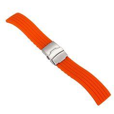 4 Colores de Goma de Silicona Correa de Reloj Band Despliegue Hebilla de Correa Resistente Al Agua de 16mm, 18mm, 20mm, 22mm, 24mm