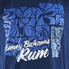 Tommy Bahama Ultra Premium Rum Tiki T Shirt Large Blue Barbados | eBay
