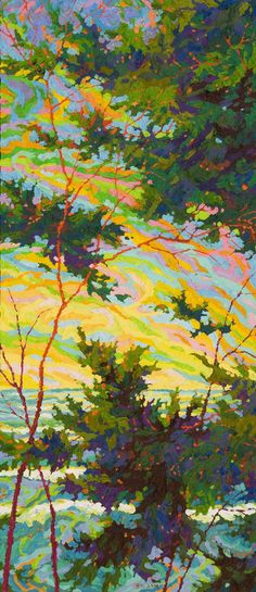 Point Lobos Pacific Glory II, oil on canvas by Frank Balaam at a Scottsdale art gallery