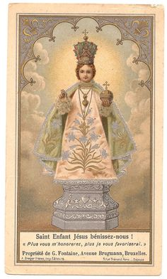 Holy Infant of Prague Antique French Holy Prayer by 12StarsVintage