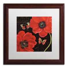 'Petals and Wings III' by Daphne Brissonnet Framed Painting Print