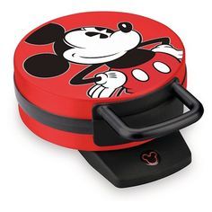 disney kitchen The Disney Mickey Mouse Waffle Maker allows you to bake a 6 golden brown, Mickey-shaped waffle in just minutes. Everything about this waffle maker will make you grin, rig Red Minnie Mouse, Classic Mickey Mouse, Mickey Mouse Cake, Mickey Y Minnie, Disney Mickey Mouse, Mini Mouse, Mickey Mouse Kitchen, Disney Kitchen, Disney Diy