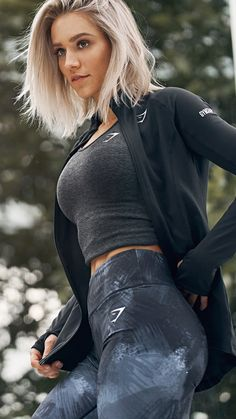 Robin Gallant styling the Figure Sculpting and high waisted Eclipse leggings. Working out never looked so good.