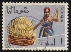 Reminds me of my father's banana fields. Somali postage stamp.