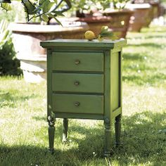 Love the color of this petite Louis XVI Side Table
