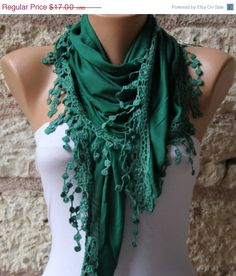 Green   Shawl Scarf   Cowl Scarf  fatwoman by fatwoman on Etsy, $15.30