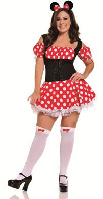 plus size little red riding hood halloween costume - steel boned