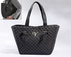"""""""Knotted Couture"""" Monogrammed Quilted Tote Bag.. Use it to store all those last minute items you minute need on the big day!"""