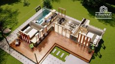 49 ideas for house plans modern small design Modern Bungalow House, Modern House Plans, Small House Plans, Tropical House Design, Modern Small House Design, Loft House Design, L Shaped House Plans, L Shaped Tiny House, Beautiful House Plans