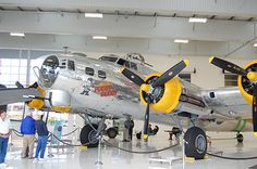 B-17G Fuddy Duddy at the Tustin Air Museum right next to the John Wayne Airport in Orange County CA.