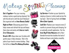 Makeup Spring Cleaning Tips from www.thecjteam.com and Avon. Check out more FREE makeup tips and tricks from The CJ Team. #Avon #Free #Tips