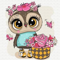 Cartoon Owl Drawing, Cute Owl Cartoon, Cartoon Pics, Girl Cartoon, Cute Owl Drawing, Cartoon Characters, Cute Owls Wallpaper, Cartoon Mignon, Art Fantaisiste