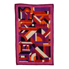 HERMES Sun Towel PERSPECTIVES CAVALIERES Cotton FUCHSIA 2015. | From a collection of rare vintage textiles and quilts at https://ww2.1stdibs.com/fashion/ephemera/textiles-quilts/