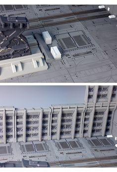 안녕하세요, 적벽돌입니다. 의뢰하신 분이 블루 포인트가 가미된 덴드로비움 작례에 감동을 받으셔서, 블루... Lego Building, Model Building, Building Design, Sci Fi Environment, Wargaming Terrain, 3d Assets, N Scale, Matte Painting, Cool Backgrounds