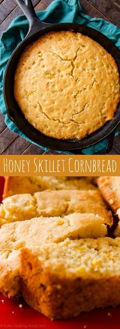 Baking cornbread in a hot skillet makes ALL the difference! Here is my favorite … Baking cornbread in a hot skillet makes ALL the difference! Here is my favorite skillet cornbread recipe. Cast Iron Skillet Cooking, Iron Skillet Recipes, Cast Iron Recipes, Skillet Meals, Cast Iron Skillet Cornbread, Cornbread With Corn, Honey Cornbread, Cornbread Recipes, Cornbread Recipe With Corn Kernels