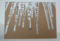 Winter Icicles – Letterpress Printed Card (5x7) on Chip Board, Blank on Inside, by LionOfBali, $5.50