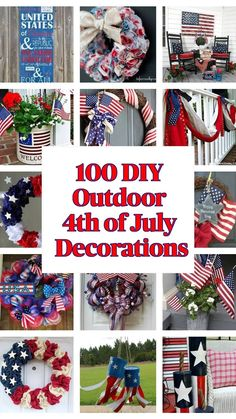 4th July Crafts, Fourth Of July Decor, Happy Fourth Of July, 4th Of July Celebration, 4th Of July Decorations, Patriotic Crafts, Patriotic Party, 4th Of July Party, Patriotic Images