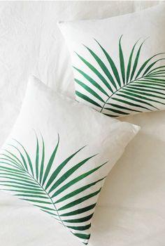 Palm Print Pillows   Etsy