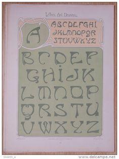 Lettres et Enseignes Art Nouveau - 1ère Série - Etienne Mullier (1900) - Pl 15 Lettres affaissées