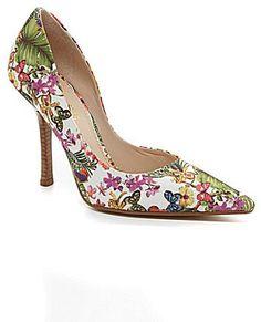 Guess Carrie Floral d´Orsay Pointed-Toe Pumps Pointed Toe Pumps, High Heel Pumps, Women's Pumps, Pump Shoes, Boat Shoes, Stiletto Heels, Cheap Pumps, Shoe Sale, Beautiful Shoes