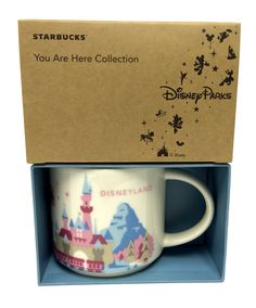 Starbucks Disneyland You Are Here Edition Coffee Mug Cup 14 oz