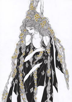 Marina Mika ink illustrations is part of pencil-drawings - w ink approach with a slight clingy to contemporary fashion Her works correlates with the Beardsley's artnouveau lineart previously praised by Kaethe Butcher and Maria Menshikova & Ink Illustrations, Illustration Art, Inspiration Artistique, Looks Cool, Contemporary Fashion, Art Inspo, Art Photography, Photography Magazine, Editorial Photography