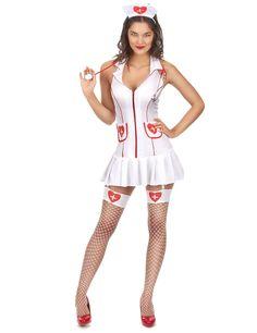 Déguisement infirmière sexy femme : Ce déguisement d'infirmière sexy se compose d'une tunique avec porte jaretelle, de deux jarretières et d'une coiffe. (les chaussures et le stéthoscope ne... Costumes Sexy Halloween, Girl Costumes, Costumes For Women, Adult Costumes, Jolie Lingerie, Women Lingerie, Sexy Lingerie, Cosplay Outfits, Sexy Outfits