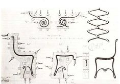Technical drawing from one of Thonet's patent applications.