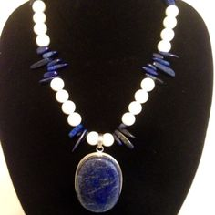 Bold Blue Lapis 925 Silver Necklace on Etsy, $130.00