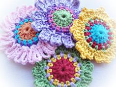 Set of Quick Flowers Crochet Patterns Instant by wonderfulhands, $4.50