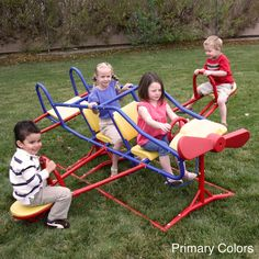 Lifetime Ace Flyer Multi-color Airplane Outdoor Teeter-totter - Overstock™ Shopping - Big Discounts on Lifetime Other Outdoor Play