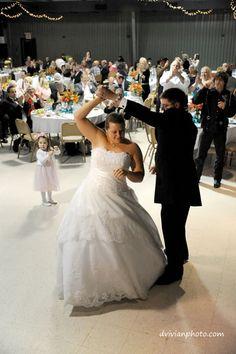 First dance - kids were blowing bubbles