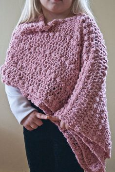Crochet Pattern Child's Pixiebean Shawl Cape on Etsy, $4.50