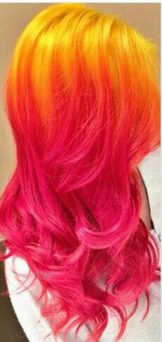 New Hair Color Orange Pink 44 Ideas Love Hair, Gorgeous Hair, Violett Hair, Pink Ombre Hair, Red Ombre, Hair And Beauty Salon, Bright Hair, Colorful Hair, Coloured Hair