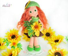 E-Books & Anleitungen - Sonnenblumen Puppe Häkelanleitung - ein Designerstück von HavvaDesigns bei DaWanda