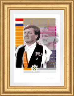 Staatsieportret Koning Willem Alexander en Koningin Máxima. Gelimiteerde oplage.
